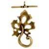Toggle - Leaf 22mm Antique Brass